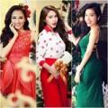 Thời trang - Thời trang Noel 2013 sôi động của mỹ nhân Việt