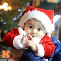 Tin tức - Trẻ nhỏ ngộ nghĩnh xuống phố đón Giáng sinh