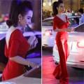 Làng sao - Angela Phương Trinh mặc lộng lẫy đi chơi bar