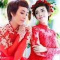 """Thời trang - """"Hoa hậu hài"""" Thu Trang duyên dáng với áo dài cưới"""