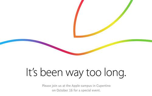 Apple gửi thư mời cho sự kiện đặc biệt ngày 16/10-1
