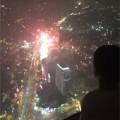 Làng sao - Subeo cùng bố ngắm pháo hoa ở Hà Nội