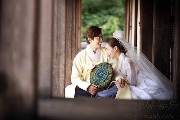 Lộ thêm loạt ảnh cưới như phim cổ trang của Chae Rim - 6