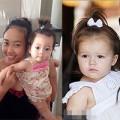 """Làng sao - Con gái Đoan Trang tóc buộc chỏm """"hao hao"""" Harper"""