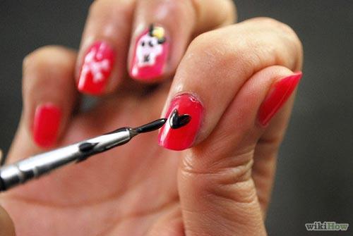 huong dan ve nail halloween ky bi, an tuong - 9