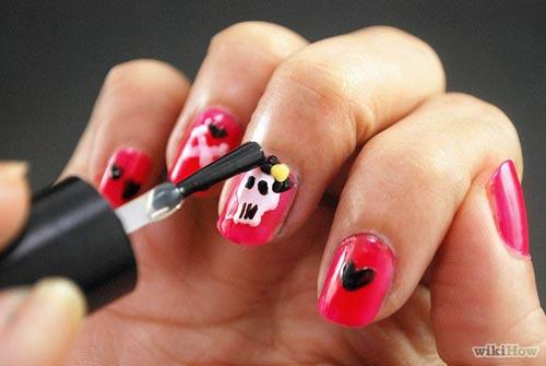 huong dan ve nail halloween ky bi, an tuong - 5