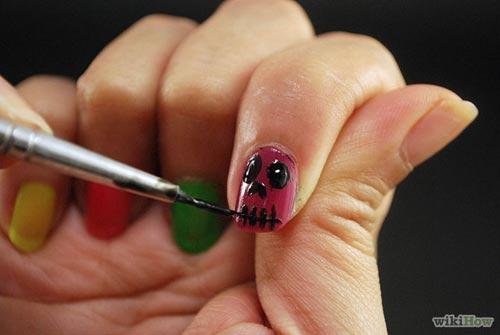 huong dan ve nail halloween ky bi, an tuong - 4