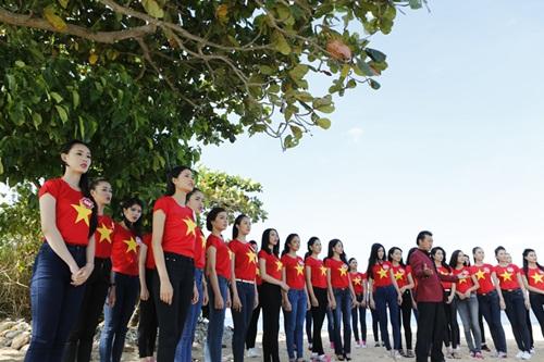 Thí sinh HH Việt Nam quay MV hướng về biển đảo-1