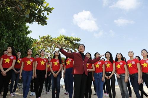 Thí sinh HH Việt Nam quay MV hướng về biển đảo-2