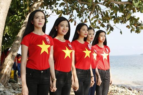 Thí sinh HH Việt Nam quay MV hướng về biển đảo-3