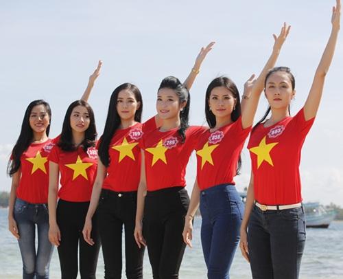 Thí sinh HH Việt Nam quay MV hướng về biển đảo-4