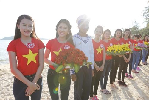 Thí sinh HH Việt Nam quay MV hướng về biển đảo-5