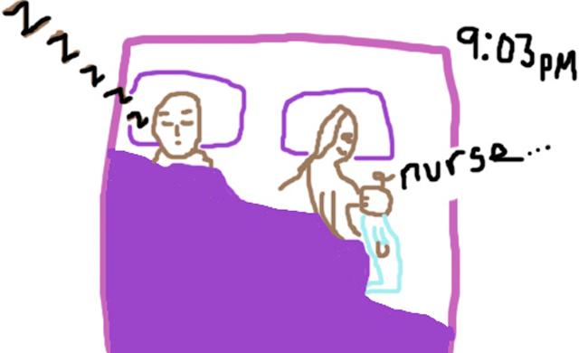 Hình ảnh hài hước về giấc ngủ của bà mẹ hai con