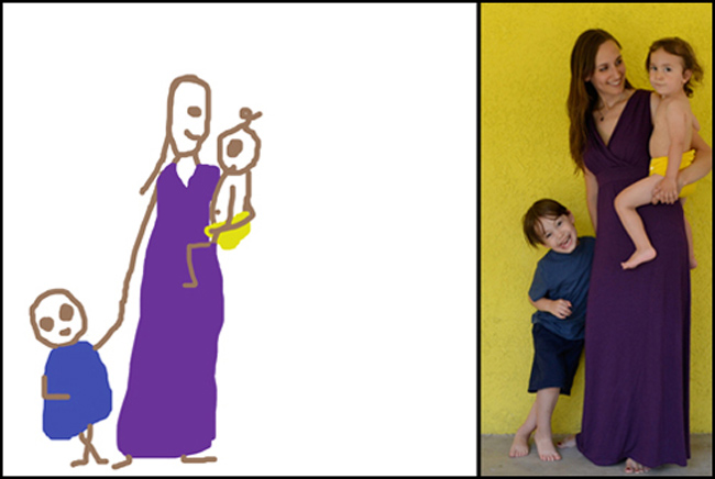 Amber Dusick_một bà mẹ của hai cậu con trai chia sẻ về cuộc sống gia đình vất vả nhưng hạnh phúc bằng các nét vẽ đơn giản.Cô luôn muốn lưu giữ lại tất cả các khoảnh khắc đáng nhớ cùng chồng, hai đứa con và hai con mèo. Do không thể cómột nhiếp ảnh gia lúc nào cũng ởbên cạnhvì thế, côbắt đầu vẽ nhanh, những nét vẽ nháp có thể đơn giảnnhưng nó đã giúp côghi lại những kỉ niệm một cách chân thực nhất về cuộc sống gia đình.  Dưới đây làbộ tranh vui của Amber về giấc ngủ của một bà mẹ hai con