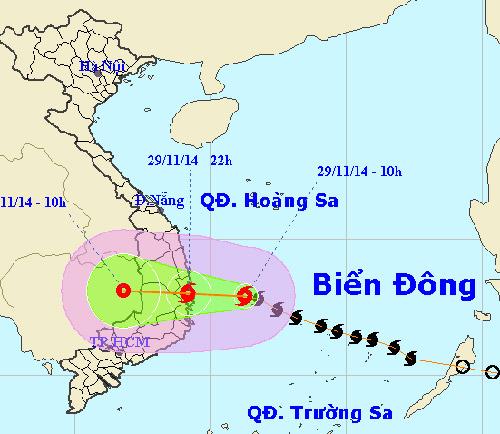 Bão số 4 cách bờ biển Phú Yên - Khánh Hòa 210km-1