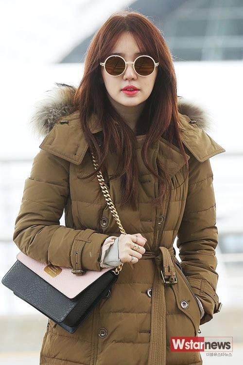 yoon eun hye xinh dep tai san bay di tham du mama - 3