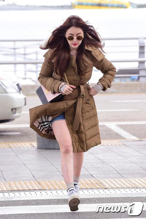 yoon eun hye xinh dep tai san bay di tham du mama - 6