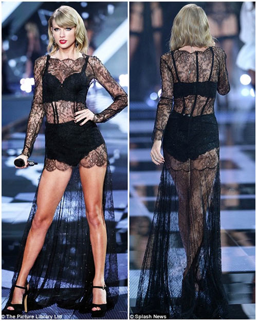 taylor swift - thien than thu 9 cua victoria's secret show - 1