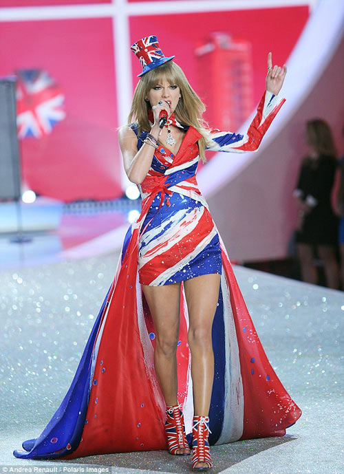 taylor swift - thien than thu 9 cua victoria's secret show - 12
