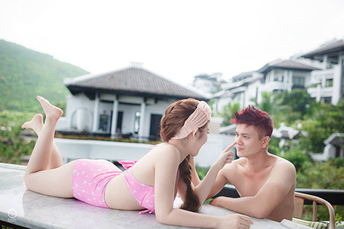 anh cuoi bikini tao bao cua cap doi tung huy cuoi phut chot - 5