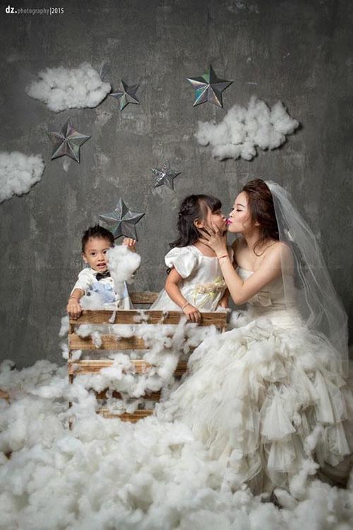 single mom ha thanh xinh dep lan thu 2 mac vay cuoi vi con - 3