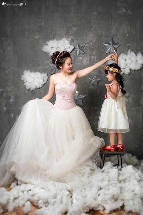 single mom ha thanh xinh dep lan thu 2 mac vay cuoi vi con - 4