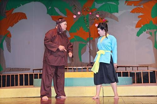 Minh Béo lần đầu thử hát cải lương-6