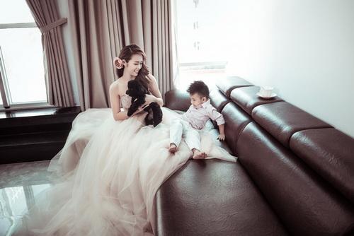 Diệp Bảo Ngọc bất ngờ khoe ảnh cưới với con trai-7