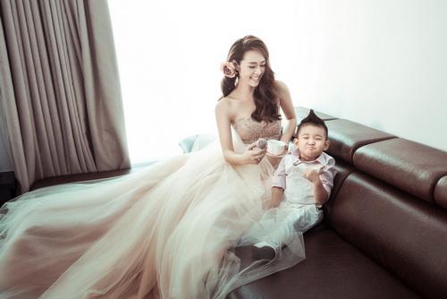 Diệp Bảo Ngọc bất ngờ khoe ảnh cưới với con trai-2
