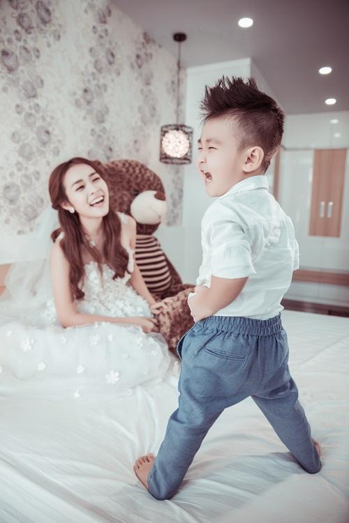 Diệp Bảo Ngọc bất ngờ khoe ảnh cưới với con trai-12