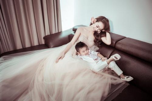 Diệp Bảo Ngọc bất ngờ khoe ảnh cưới với con trai-5