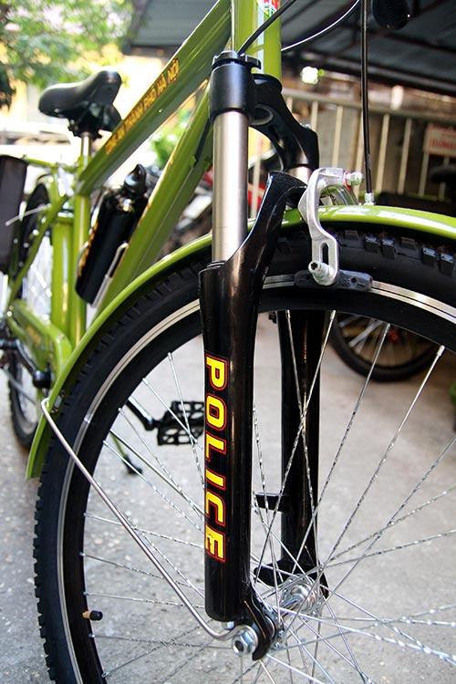 Cận cảnh xe đạp mới nâng cấp của công an Hà Nội-6