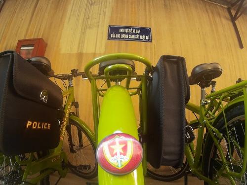 Cận cảnh xe đạp mới nâng cấp của công an Hà Nội-2