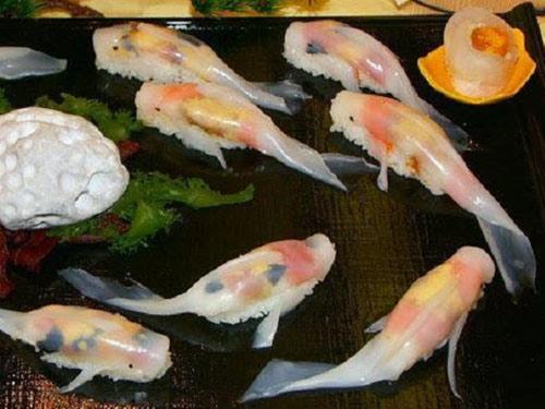 """thich thu voi mon sushi """"biet boi"""" o nhat ban - 1"""