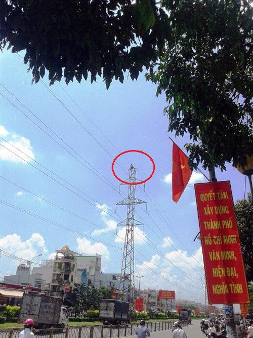 "tp.hcm: thanh nien ""nhay mua"" tren day dien cao the - 3"