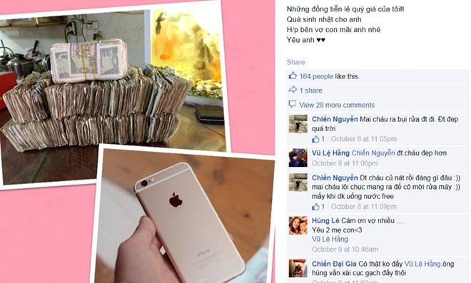nguoi vo tre tiet kiem tien le mua iphone 6 plus tang chong - 1