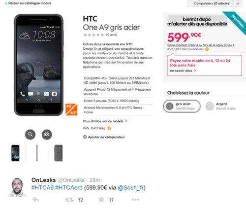nhung tin don moi nhat ve smartphone one a9 cua htc - 2