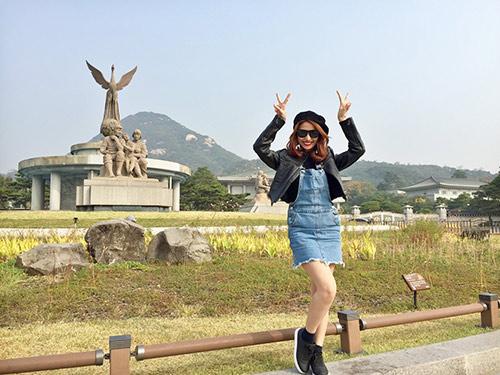 Việt My thích thú với cảnh thiên nhiên tuyệt đẹp ở Hàn Quốc-2