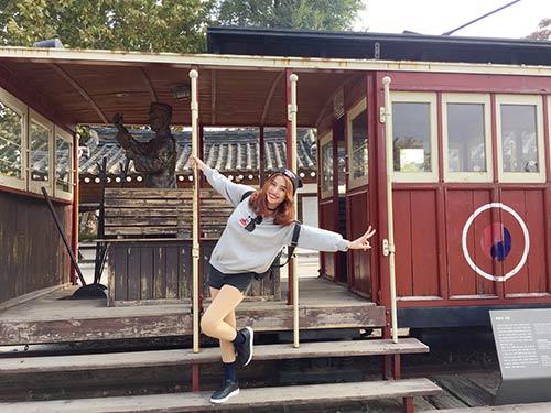 Việt My thích thú với cảnh thiên nhiên tuyệt đẹp ở Hàn Quốc-10