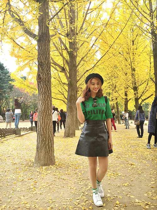 Việt My thích thú với cảnh thiên nhiên tuyệt đẹp ở Hàn Quốc-1
