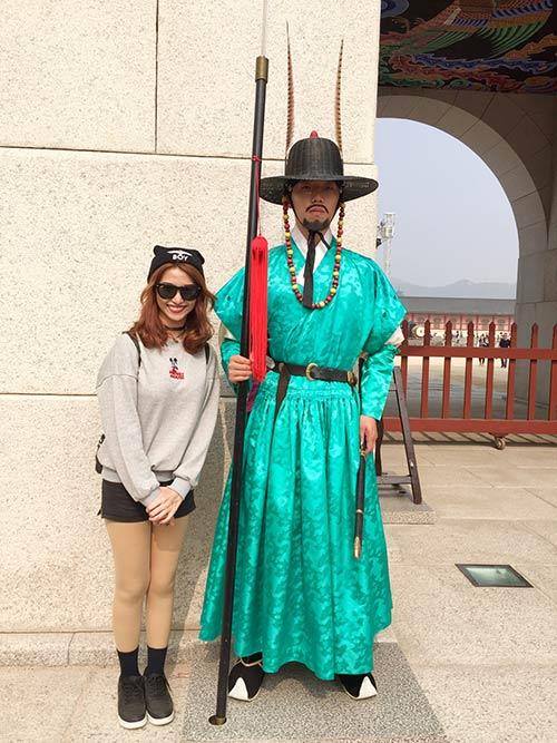 Việt My thích thú với cảnh thiên nhiên tuyệt đẹp ở Hàn Quốc-6