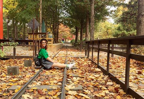 Việt My thích thú với cảnh thiên nhiên tuyệt đẹp ở Hàn Quốc-7