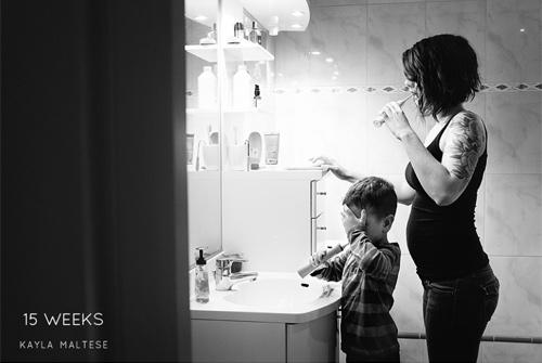 """Ấn tượng """"Nhật ký mang thai"""" mẹ tự chụp cho mình-3"""