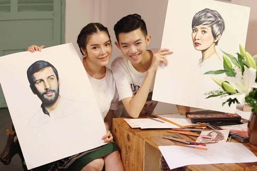 Lý Nhã Kỳ thuê họa sỹ Nghệ An 15 tuổi vẽ thời trang-4