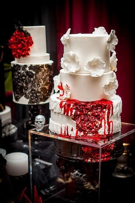 Rùng rợn với những chiếc bánh cưới Halloween-8