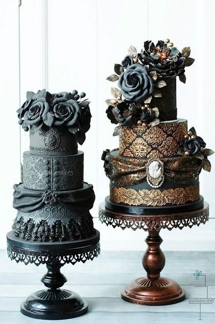 Rùng rợn với những chiếc bánh cưới Halloween-7
