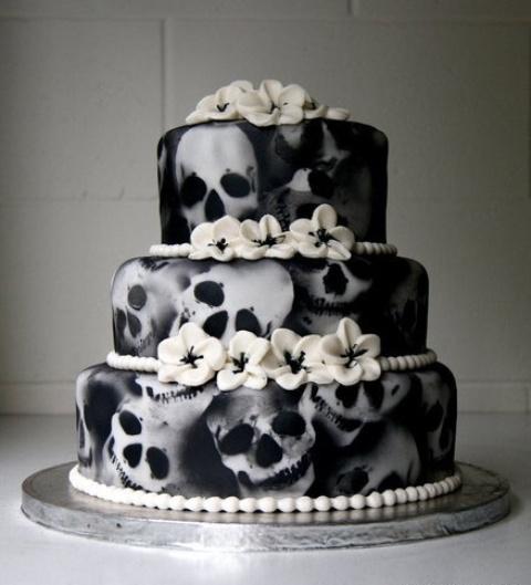 Rùng rợn với những chiếc bánh cưới Halloween-2