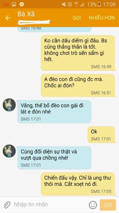 """tran lap nhan tin """"set danh"""" bi ung thu - 3"""