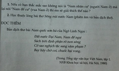 ve bai tho nam quoc son ha: tong chu bien sach ngu van lop 7 len tieng - 3