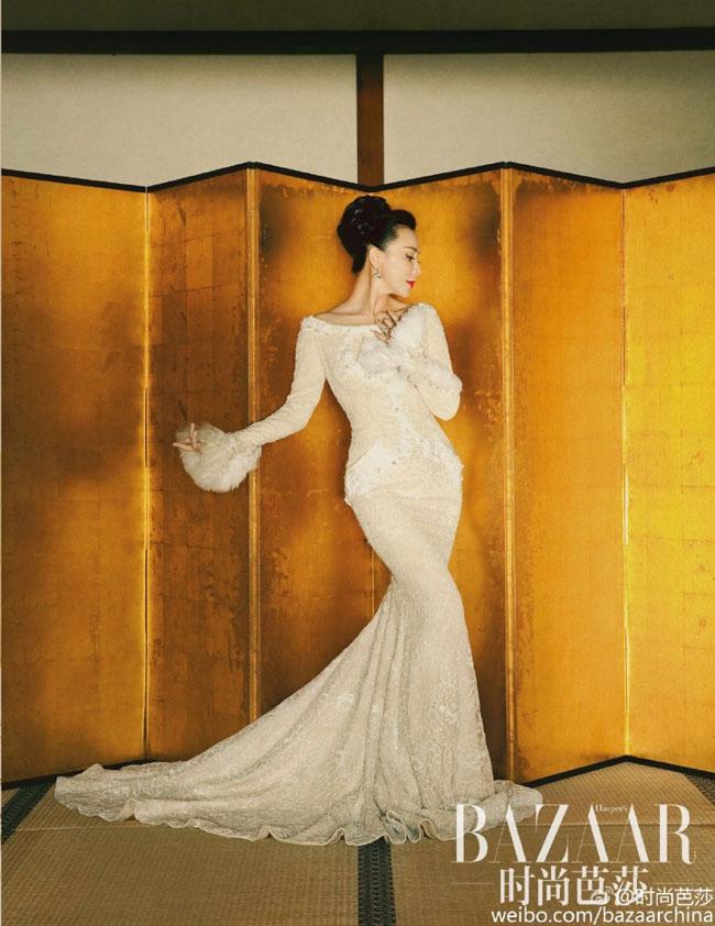 Nữ diễn viên xứ Cảng thơm trở thành gương mặt trang bìa trên Harper's Bazaar số tháng 12/2015.